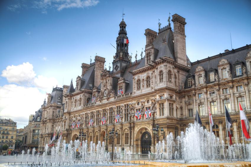 France. Paris City Hall (Hotel de Ville)